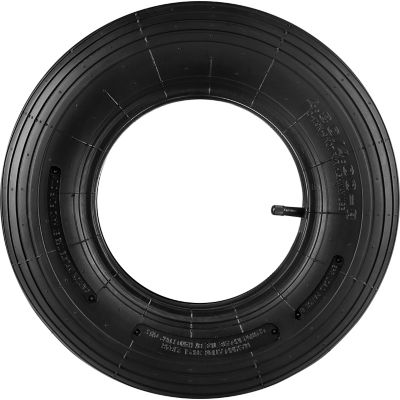 Replacement Tire & Tube; Ribbed Tread; 16 in. x 4.00-8