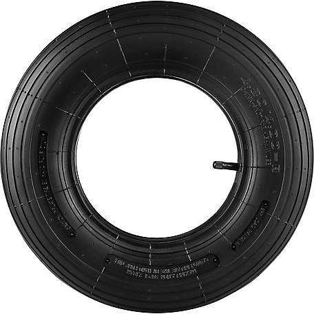 16 in. x 4.00-8 in. Replacement Tire & Tube, Ribbed Tread,