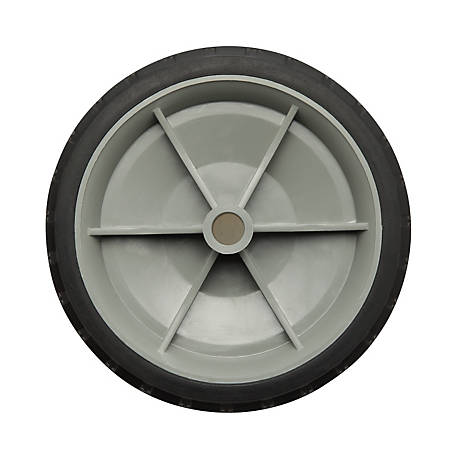 6 in. x 1.4 in. Solid Tire with Offset Plastic Hub and Diamond Tread, 1/2 in. Bore Size