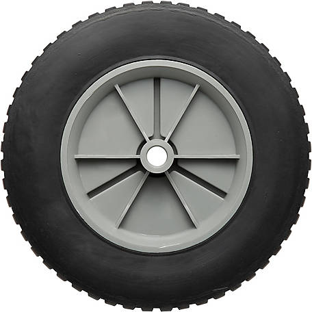 8 in. x 1.75 in. Solid Tire with Offset Plastic Hub and Gear Tread, 1/2 in. Bore Size