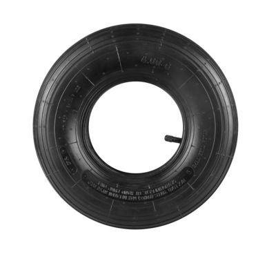 Replacement Tire & Tube; Ribbed Tread; 13 in. x 4.00 x 6