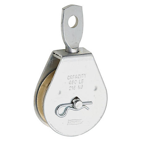 Single Pulley, 2 in., Zinc Plated