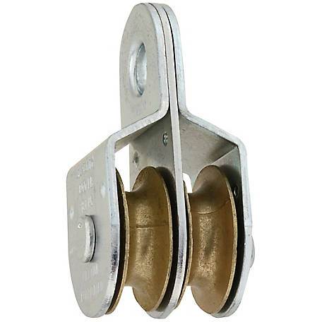 National Hardware Fixed Double Pulley, 1-1/2 in.