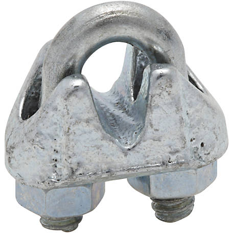 National Hardware 3230BC 1/8 in. Wire Cable Clamp, Zinc