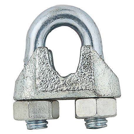 National Hardware 3230BC 1/4 in. Wire Cable Clamp, Zinc
