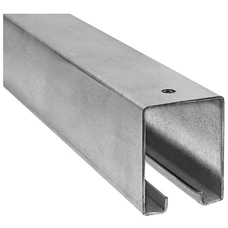 National Hardware 5116 Box Rail, Galvanized, 8 Ft.