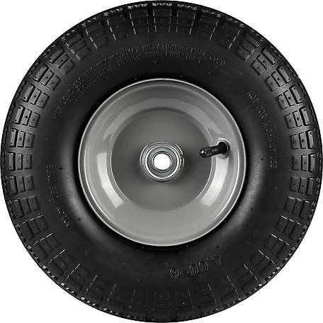 13 in. x 4.00-6 in. Pneumatic Wheels with Knobby Tread, 5/8 in. Bore Size