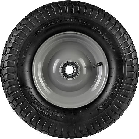 16 in. x 5.00-8 in. Pneumatic Wheels with Turf Tread, 1.0 in. Bore Size