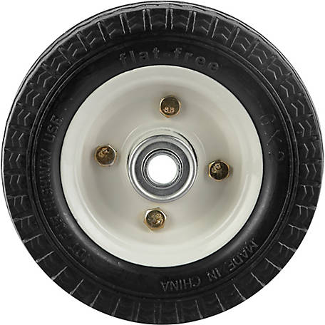 6 in. x 2 in. Flat-Free Wheels Sawtooth Tread, 1/2 in. Bore Size