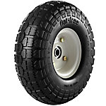 4.10/3.50-4 in. Flat-Free Wheels with Knobby Tread, 5/8 in. Bore Size