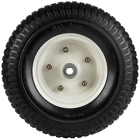 13 in. x 5.00-6 in. Flat-Free Wheels with Turf Tread, 5/8 in. Bore Size, PU 1304
