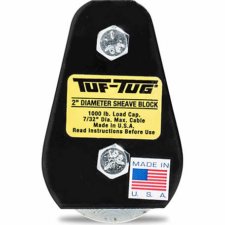 Tuf-Tug 2 in. Plain/Tailboard Block