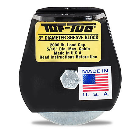Tuf-Tug 3 in. Flat Mount Block