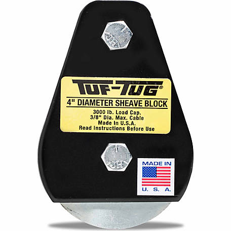 Tuf-Tug 4 in. Plain/Tailboard Block