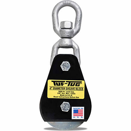 Tuf-Tug 4 in. Swivel Eye Block