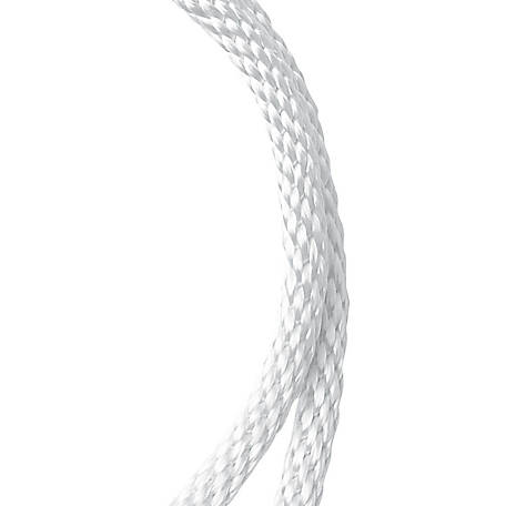 Koch Industries Nylon Solid Braid, White, 3/8 in. dia., Sold by the ft.