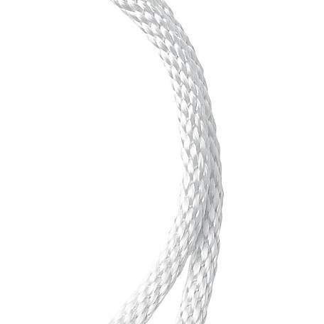 Koch Industries Nylon Solid Braid, White, 1/2 in. dia.