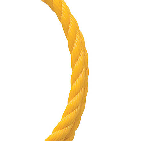 Koch Industries Polypropylene, Twisted, Yellow, 3/4 in. dia., Sold by the ft.
