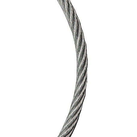 Koch Industries Wire Rope Cable, 7x7, Galvanized, 3/32 in. dia.