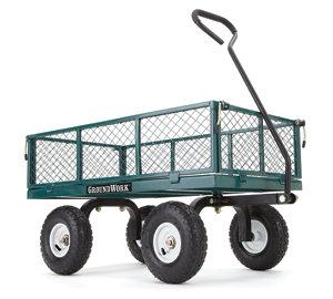 GroundWork 800 Lb. Capacity Steel Garden Cart