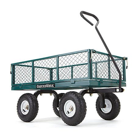 GroundWork 800 lb. Capacity Steel Garden Cart, GW800