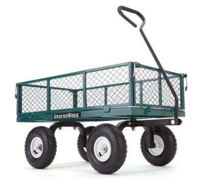 Capacity Steel Garden Cart