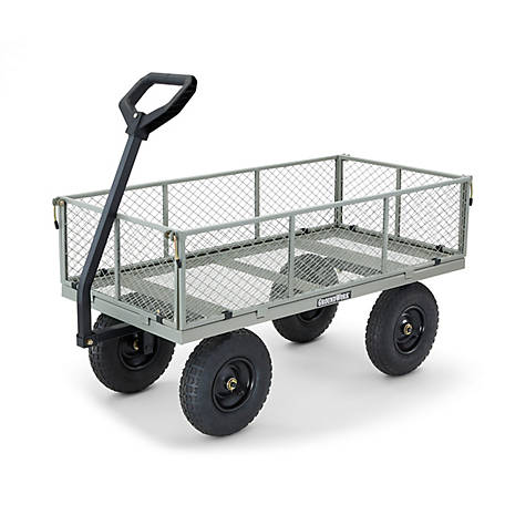 Groundwork Steel Garden Cart 1 000 Lb Capacity