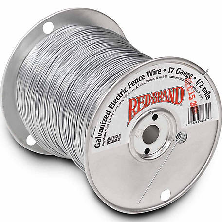 Red Brand Galvanized Electric Fence Wire 17 Gauge - 2640-ft.