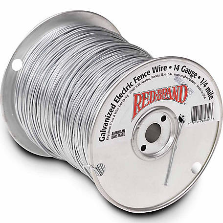 Red Brand Galvanized Electric Fence Wire 14 Gauge - 1320-ft.