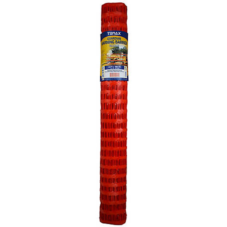Tenax Guardian Economy Warning Barrier 4 ft. x 100 ft., Orange, 2A060006