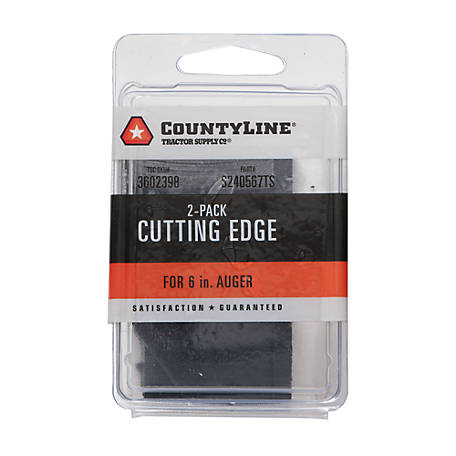 CountyLine Cutting Edge for 6 in. Auger, Pack of 2