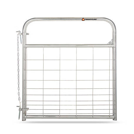 CountyLine Galvanized Mesh Gate, 4 ft. L x 50 in. H
