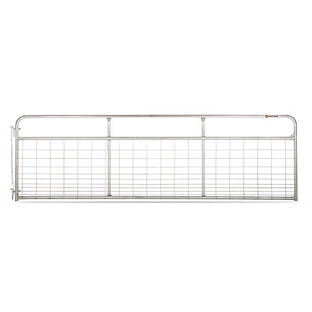 CountyLine Galvanized Mesh Gate, 14 ft. L x 50 in. H
