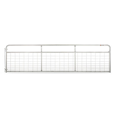CountyLine Galvanized Mesh Gate, 16 ft. L x 50 in. H
