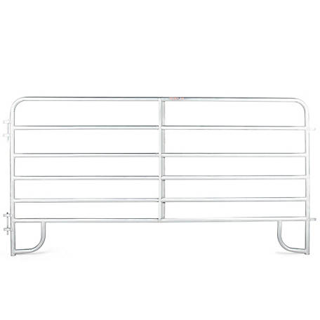 Extra Heavy-Duty Galvanized 2 in. 6-Bar Corral Panel, 12 ft., 2GVC12