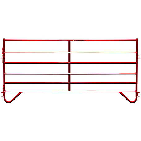 CountyLine Corral Panel 10 ft. (L) x 60 in. (H) with Red E-Coat