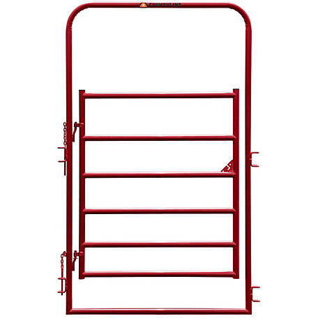 CountyLine 4 ft. L Gate with 8 ft. H Frame and Red E-Coat at Tractor ...