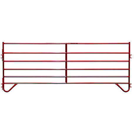 CountyLine Corral Pannel 12 ft. (L) x 60 in. (H) with Red E-Coat