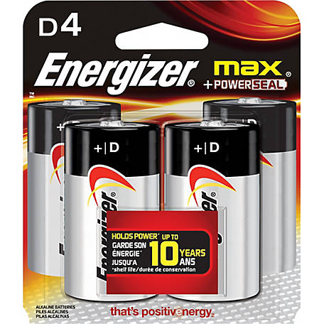 Energizer Max D, Pack of 4