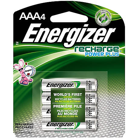 Energizer Rechargeable AAA, Pack of 4