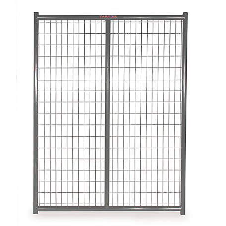 Tarter Farm and Ranch Equipment 6 ft. x 5 ft. Heavy-duty Dog Kennel Side Panel, Gray