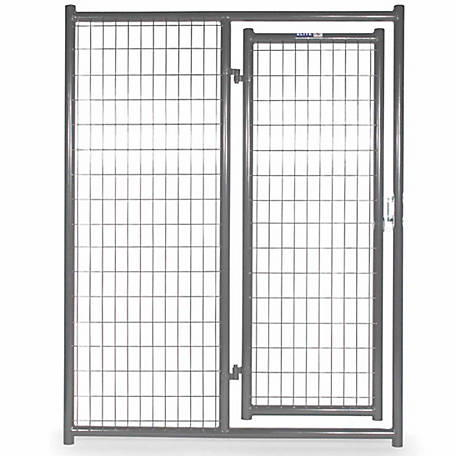 Tarter Farm and Ranch Equipment 6 ft. x 5 ft. Heavy-duty Dog Kennel Front Panel, Gray