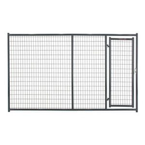 tarter farm and ranch equipment 6 ft x 10 ft heavyduty dog kennel front panel gray