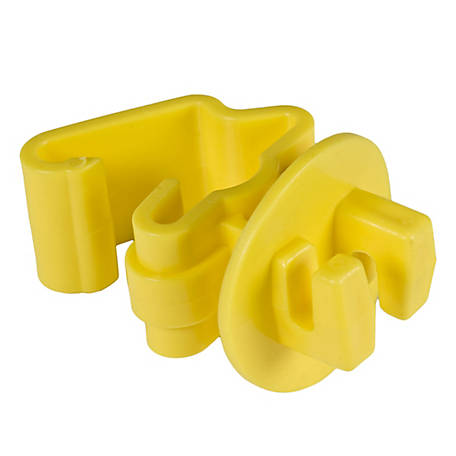 Zareba T-Post Insulator, Yellow, Pack of 25
