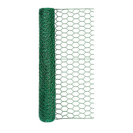 Handy Roll Green Vinyl Coated Poultry Netting With 1 in. Mesh,  24 in. H x 25 ft. L, 172425