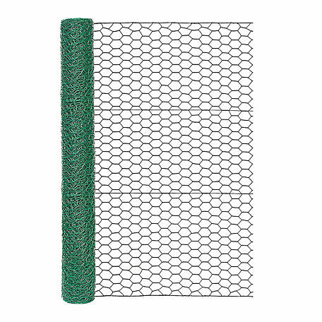 Garden Zone 36 in. x 25 ft. Green Vinyl Poultry Netting, 173625