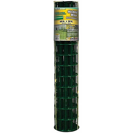 48 in. x 50 ft. Green Vinyl Welded Wire with 2 in. x 3 in. Mesh, 24850