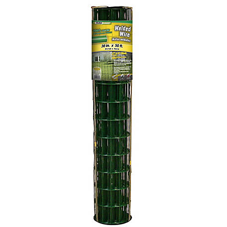 36 in. x 50 ft. Green Vinyl Welded Wire with 2 in. x 3 in. Mesh, 23650