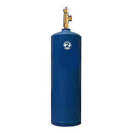 Thoroughbred Acetylene Gas Cylinder, #2 Size