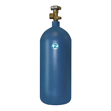 Thoroughbred Oxygen Gas Cylinder, #2 Size, 40 cu. ft.